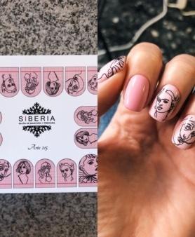 Sliders Siberia pegatinas para las uñas
