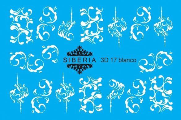 Slider SIBERIA 3D 17 blanco