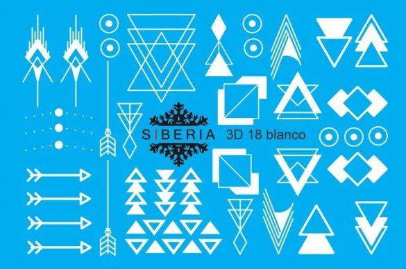 Slider SIBERIA 3D 18 blanco