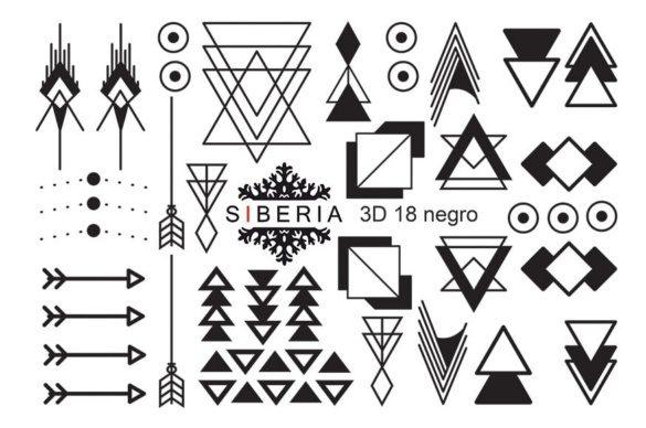 Slider SIBERIA 3D 18 negro