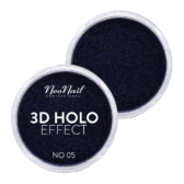 3D HOLO effect, uñas metalizadas negro 2gr ref 5329-5