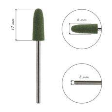 Foto del producto 6: FRESA para cutícula, de silicona, bala verde..