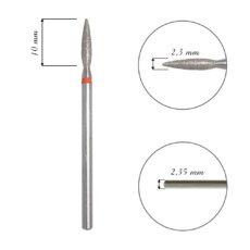 Foto del producto 7: Fresa / Broca de diamante, forma de llama fina, grano fino. 2,3mm.