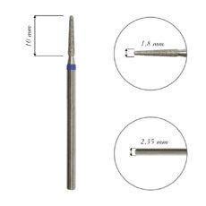 Foto del producto 7: FRESA para cutícula, forma cono, diamante, grano medio 1,8mm.