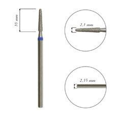 Foto del producto 5: FRESA para cutícula, forma cono, diamante, grano medio 2,1mm.
