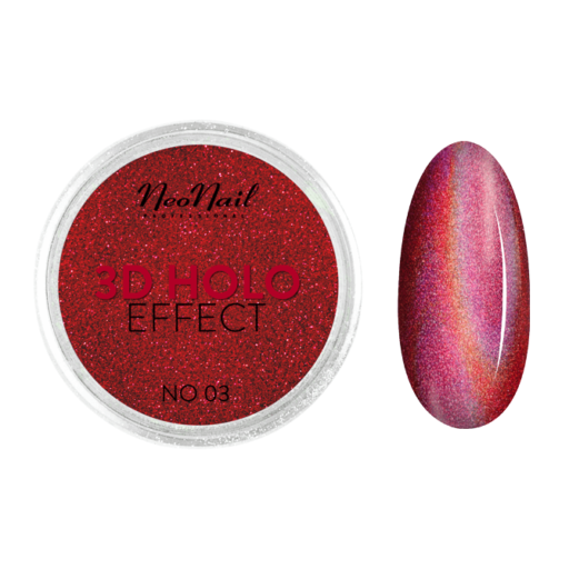 3D HOLO effect, uñas metalizadas rojo 2gr ref 5329-3