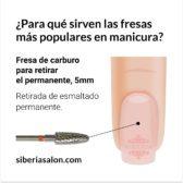 Fresa / Broca para retirar el permanente 5mm