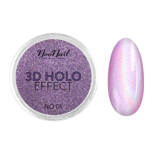 3D HOLO effect, uñas metalizadas lila 2gr ref 5329-1
