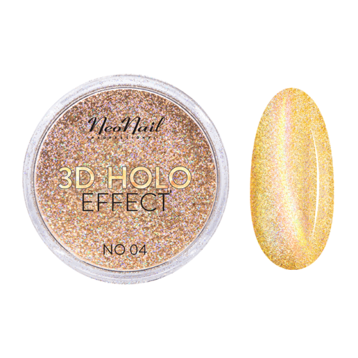 3D HOLO effect, uñas metalizadas oro 2gr ref 5329-4