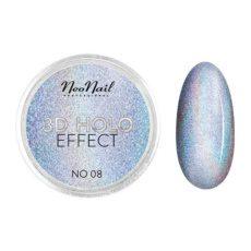 Foto del producto 8: 3D HOLO effect, uñas metalizadas plata blanca 2gr ref 5329-8.